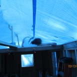 At the end of the day, I went up to the loft to repair some holes in the tarp and ended up falling alseep in my loft.