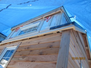 Dormer with all of the strapping up.