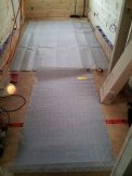 The kitchen and great room infloor heat mats.