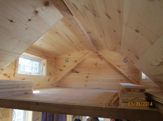 The main loft with all of it's trim in place.